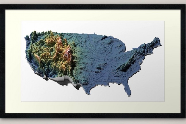 us-elevation-tiles-framed-art-print-by-cstats