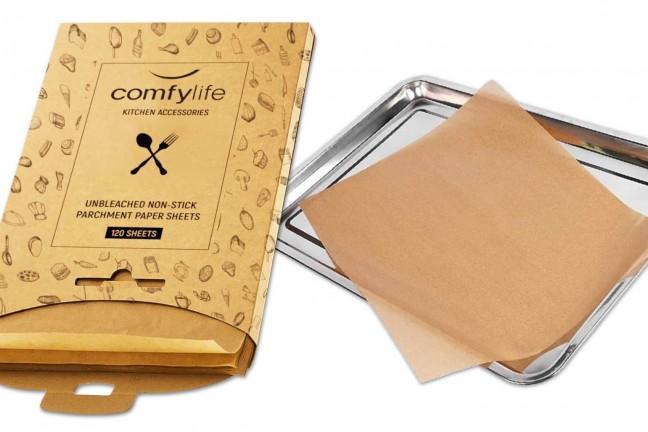 comfylife-unbleached-precut-parchment-paper-baking-sheets