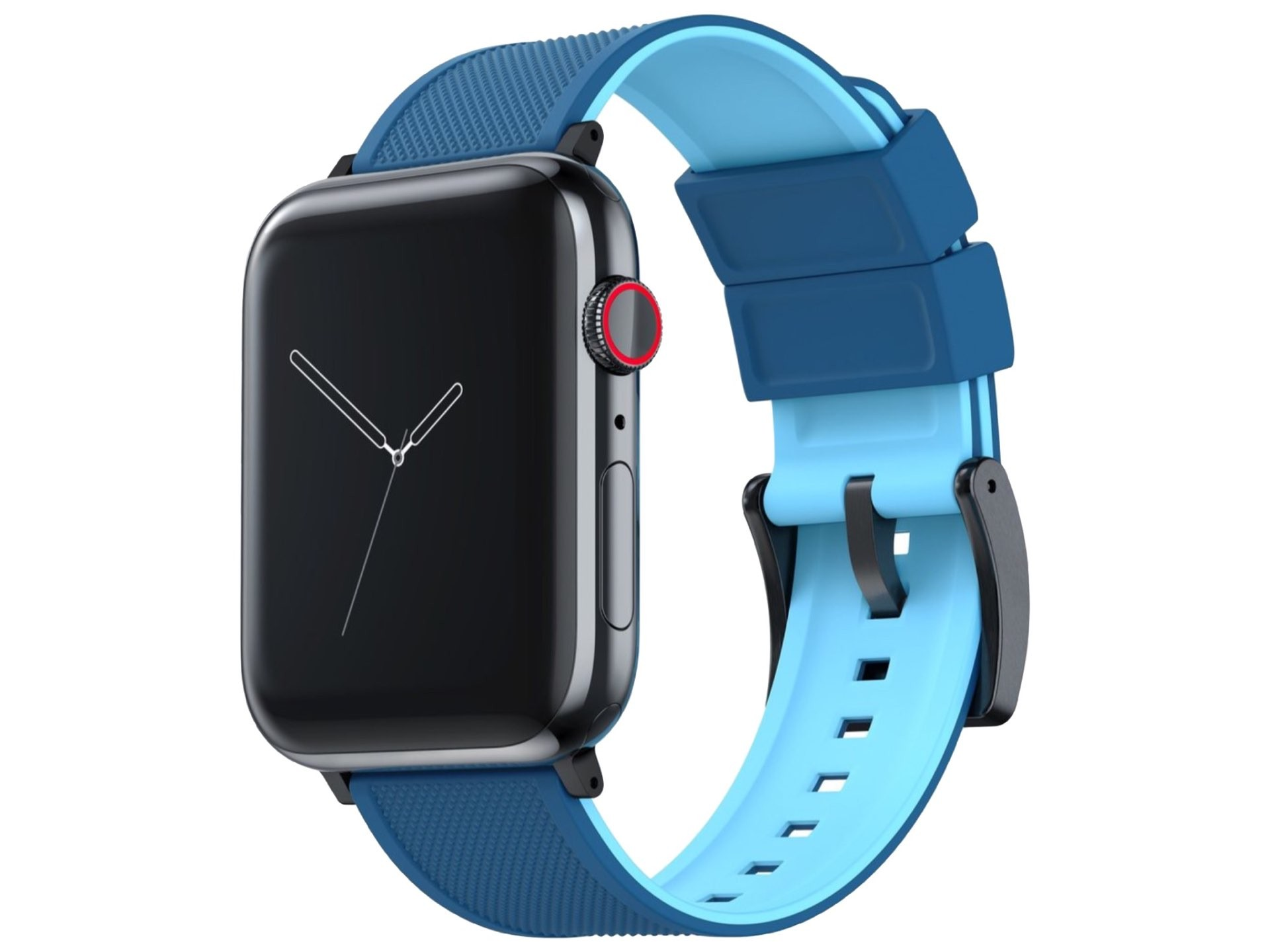 barton-watch-bands-elite-silicone-strap-for-apple-watch-flatwater-blue-black-pvd-hardware