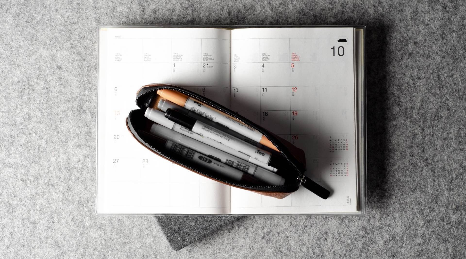 hard-graft-fat-stick-pencil-pen-case-on-calendar